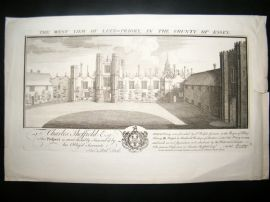 Buck 1774 Folio Architecture Print. Leez Priory, Essex